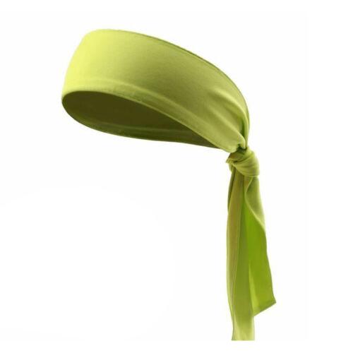 Unisex Stretch Head Tie Headband Sports Sweatband Yoga Sweat Hair Band