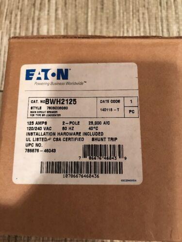 Eaton Cutler Hammer Bwh2125 2 Pole 125 Amp 120//240 Volt Circuit Breaker New