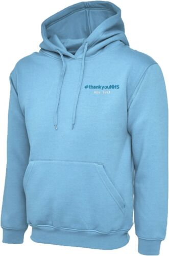 Personalised Embroidered Say Thank You To NHS With This National Hero Hooded Top