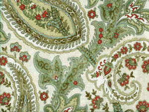 Gray Drapery Upholstery Fabric 100/% Cotton Duck Abstract Paisley