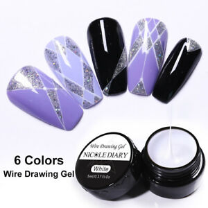 5ml-NICOLE-DIARY-White-Draw-Painting-Gel-Nails-Gellack-Soak-Off-Nail-Art