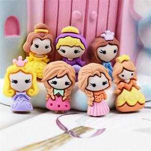 Random-2cm-Resin-Princess-Girls-Craft-Cabochons-Flatbacks-Decors-Mixed-10-pcs