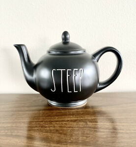 NEW-Rae-Dunn-STEEP-TEAPOT-Ceramic-With-Lid-Artisan-Collection-by-Magenta