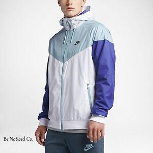 buy good meet reasonable price Details about Nike Sportswear Windrunner Men's Jacket 2XL White Blue Casual  HoodieNew