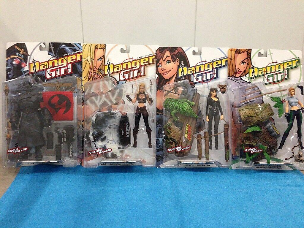 McFarlane Toys Danger Girl set of 4 - Abbey, Natalia, Sydney and Major Maxim