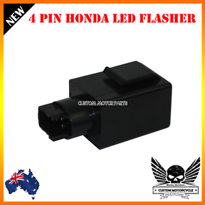 Details About 4 Pin LED Turn Signals Flasher Relay Honda Shadow VTX1300 VT750 SV VT 1300 RVT
