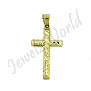 10k Gold Nugget Charm Pendent Real 10k Nugget Charm Men//Women with Diamond Cut