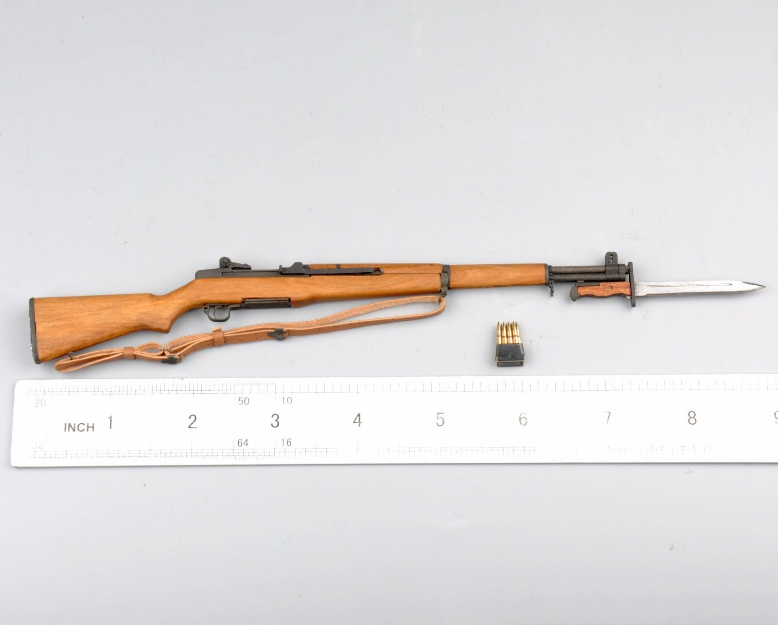 1 6 Figure WWII US Weapon  Garand Rifle w  Knife Gun Toy Fit 12  Figure Model  plus abordable