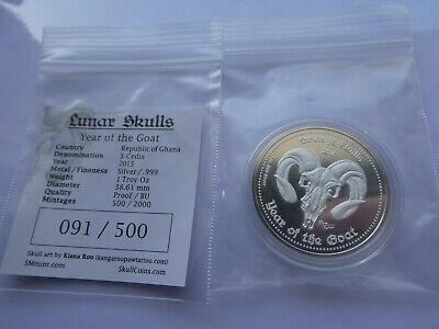 Ghana 5 cedis Rococo proof silver coin 2014