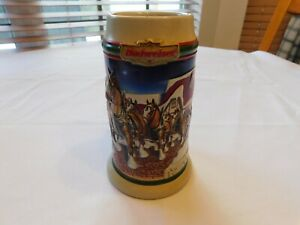 1998-Grant-039-s-Farm-Holiday-Budweiser-Christmas-Beer-Stein-Clydesdale-CS343