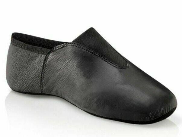 Capezio Agility Unisex Black Leather Split Sole Gymnastic Shoe US1 UK Size 11