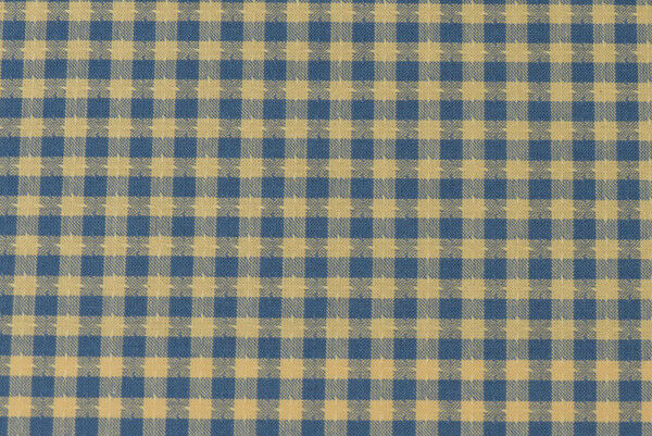 "Darling Blue and Yellow Woven Gingham 100% Cotton Fabric Piece 11""x 20"" NEW!"