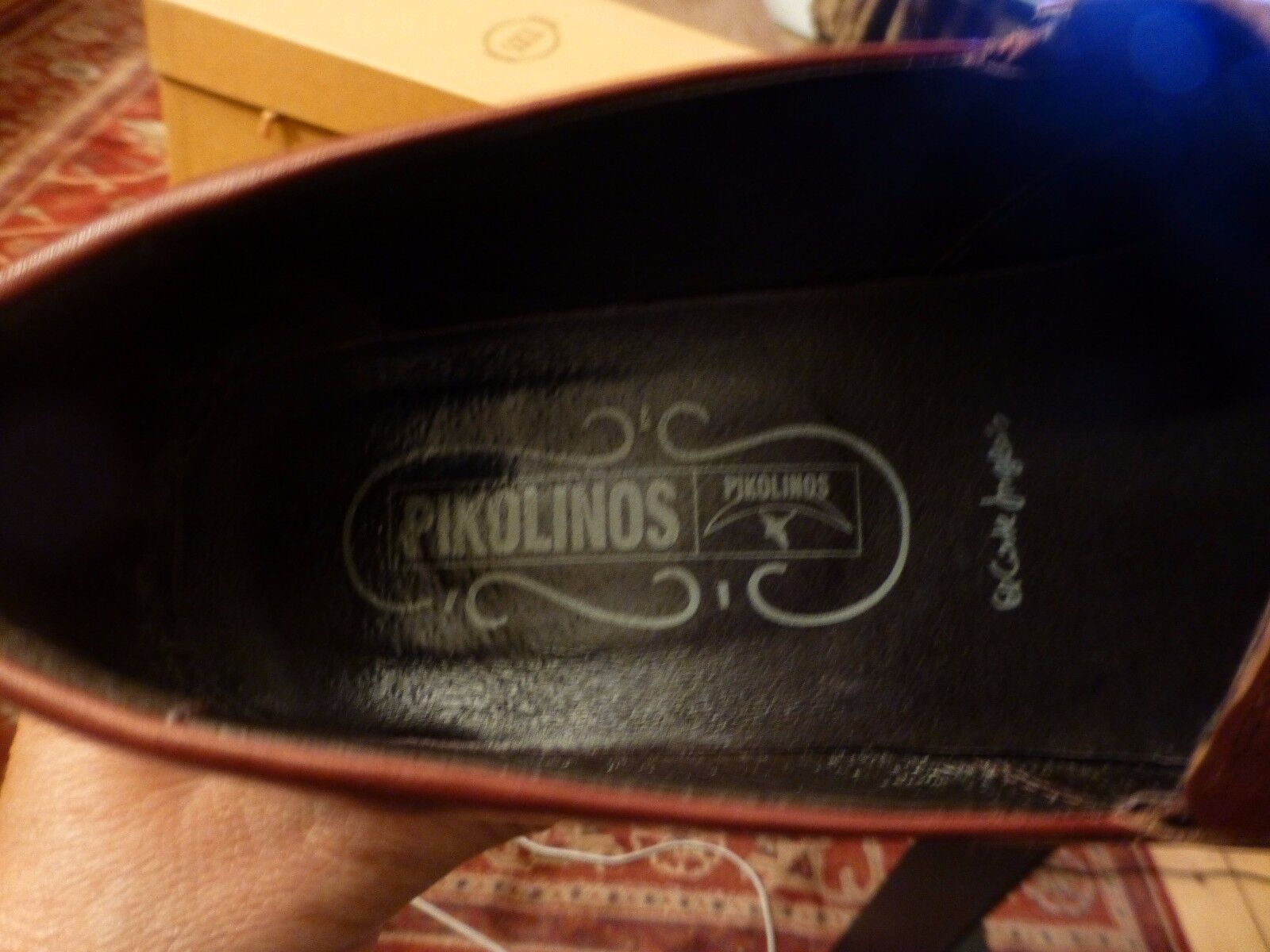PIKOLINOS BROWN LEATHER COURT SHOE TOP SIZE STITCH DETAIL INTEGRATED HEEL SIZE TOP 40 0a0ce4