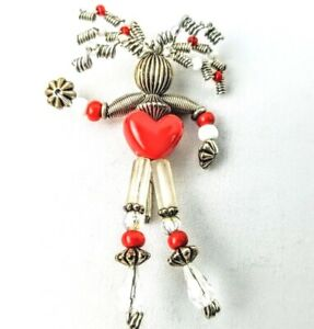 Vintage-Moonbabies-Moonbaby-Stickpin-Pin-Brooch-Silver-White-Red-Heart-Love-Bead