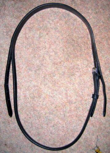 """HERITAGE English Leather Bridle Headpiece HAVANA BLACK FULL COB 12mm 1//2/"""" cheeks"""