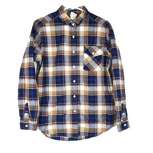 The North Face Women's Small Button Up Long Sleeve Plaid Flannel Shirt Outdoors