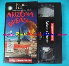 VHS film ARIZONA DREAM 1993 Jonny Depp Jery Lewis l'ESPRESSO (F7*) no dvd