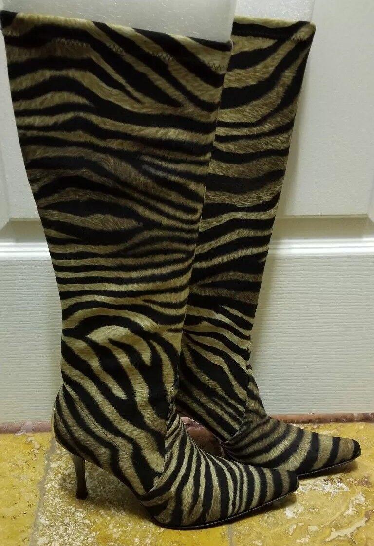 Gorgeous Vintage Donald J. Pliner Couture Venita Stretch 365 Tiger Print Stiefel 365 Stretch a00c03