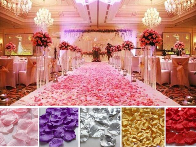 Wholesale Various Colors Silk Flower Rose Petals Wedding Party Decorations A