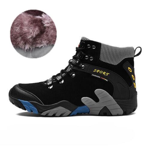 Waterproof Men/'s Hiking Boots Outdoor Trail Sports Climbing Fur Shoes Winter