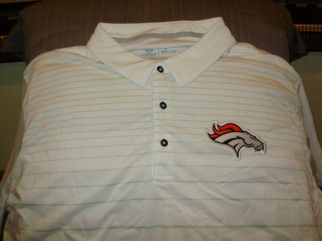 01a67601e Buy NFL Denver Broncos Nike Dri Fit Cool White Early Season Polo Golf Shirt  Mens 3xl online