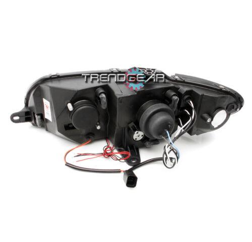2004 2005 2006 PONTIAC GTO HALO LED BLACK PROJECTOR HEAD LIGHT W//BLUE DRL SIGNAL