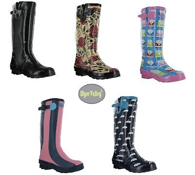 3543a4d3848 Ladies Wellington Boots Festival Wellies Summer Boots Muck Wyre Valley UK  3-8 | eBay