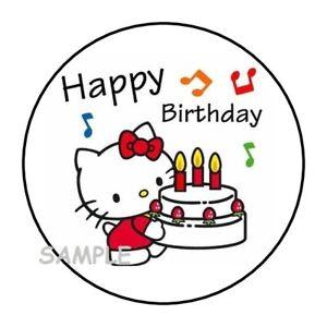 "30 Happy Birthday Envelope Seals Labels Stickers 1.5/"" Round balloons"