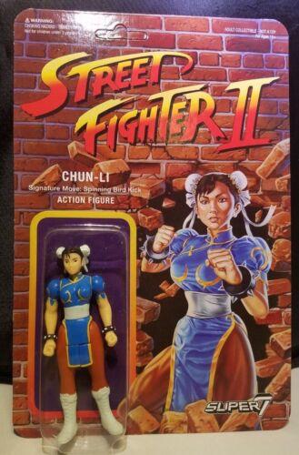 "CHUN-LI Street Fighter II ReAction Super7 Retro 3.75/"" Figure Funko Super 7 MOC"