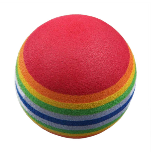 50pcs Golf Swing Training Aids Indoor Practice Sponge Foam Rainbow Balls WS