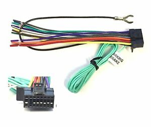 car stereo radio replacement wire harness for select sony 16 pin dvd radios ebay