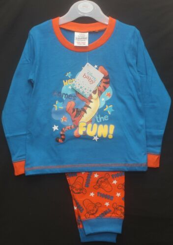 Baby Boys Character Pyjamas//Long-Sleeved PJs in a Choice of Styles 6-24 Months
