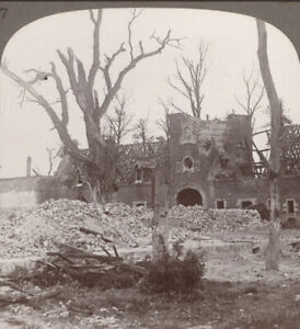 WW1-Festubert-Beury-Chateau-Totally-Destroyed-in-The-Battle-of-festubert-1915