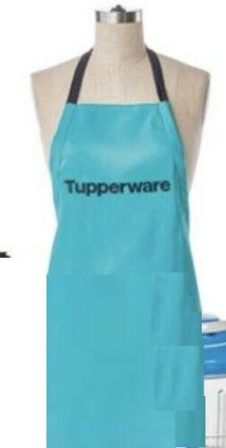 Tupperware NEW Logo Apron Aqua Blue Tupperware Logo Consultant Party More