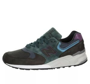 new concept b1f83 640cc Details about New Balance 999 Made In USA Suede Black Green Teal Men Sizes