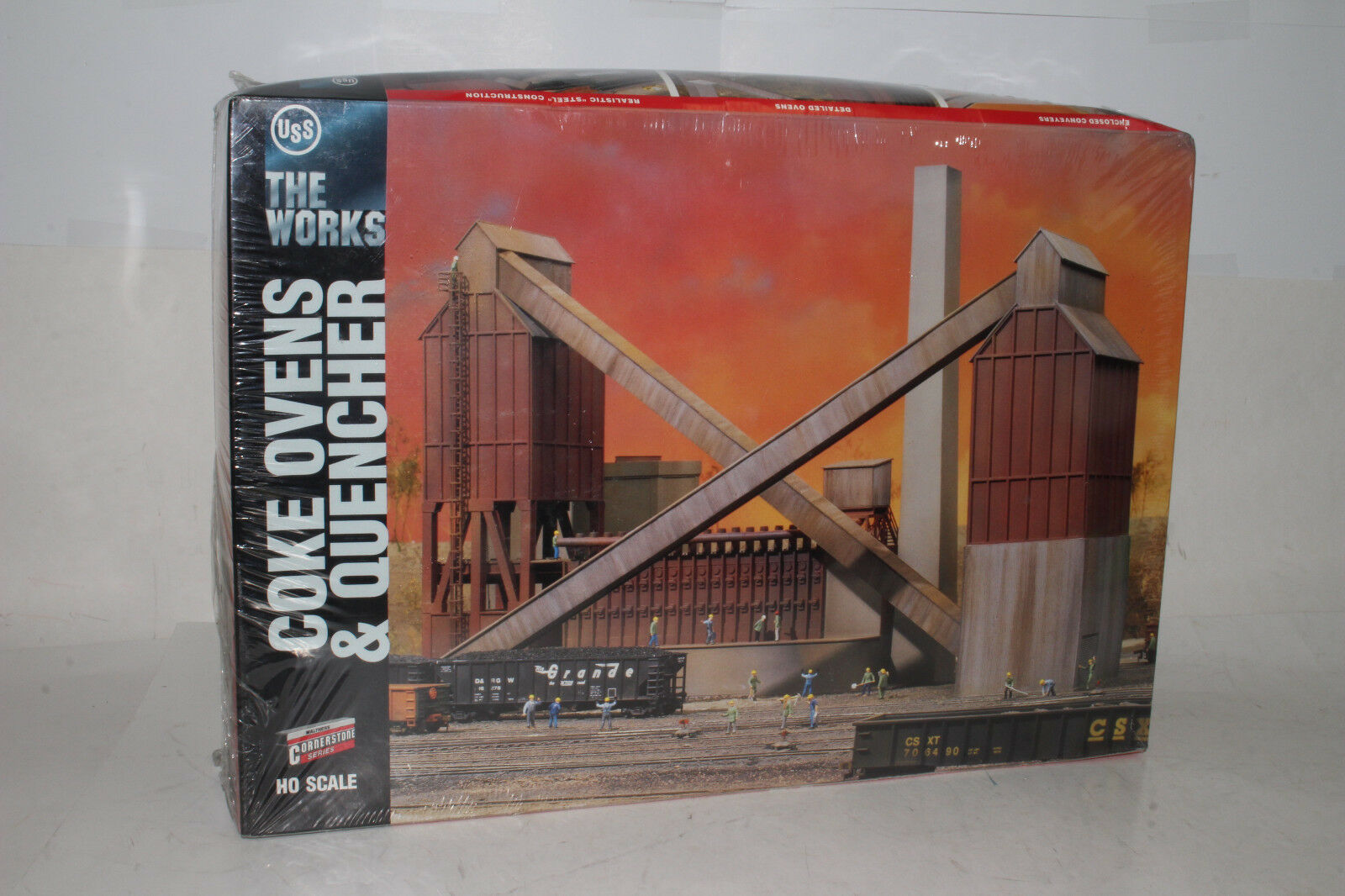 WALTHERS CORNERSTONE HO SCALE U.S. STEEL COKE OVENS & QUENCHER, SEALED NIB