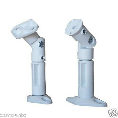(2) Speaker Stand / Mount / Bracket for Wall & Ceiling - Bose Cinemate 2 - White