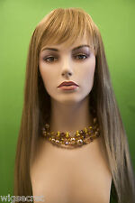 Light Chestnut Brown Root Tipped With Lt. Golden B Brunette Long Skin Top S Wigs