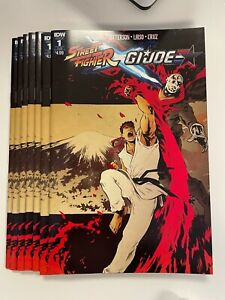 IDW STREET FIGHTER X G.I. JOE #1 SUB C COVER : 7-COPY LOT : NM CONDITION