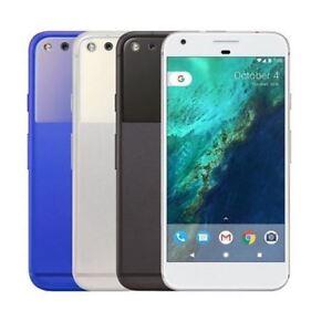 Google Pixel 32GB Very Silver Quite Black Unlocked Android Smartphone + Warranty
