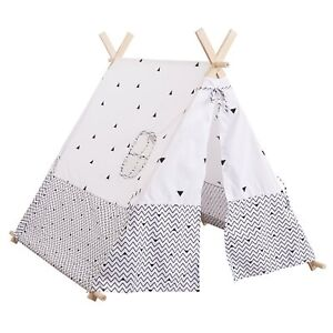 Tente Tipi deco enfant Noir et Blanc Atmosphera for kids | eBay