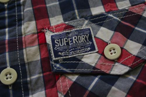 Superdry Men/'s Washbasket Plaid Short Sleeve Slim Fit Shirt Sz S XL L 2XL M