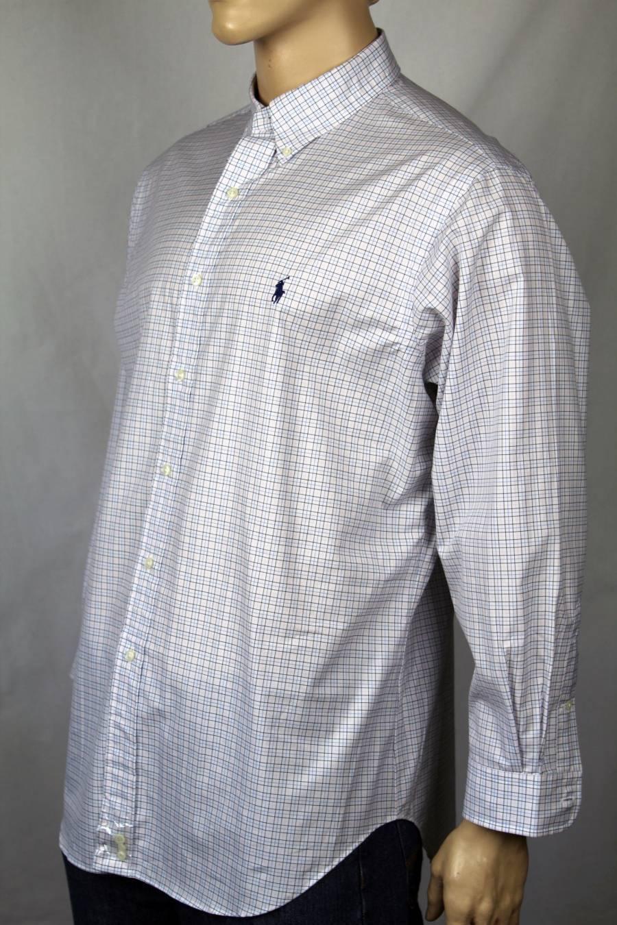 Ralph Lauren WHITE NAVY PINK CLASSIC FIT DRESS SHIRT NWT