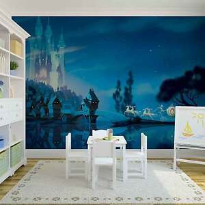 Disney wallpaper mural for children\'s bedroom Castle view ...