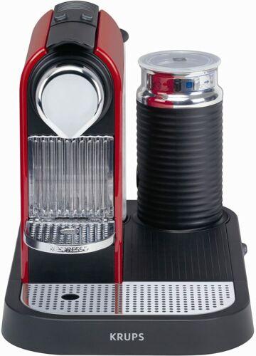 Krups Nespresso Milk Frother Coffee Machine - Red