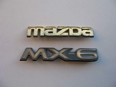 1994 MAZDA MX-3 MX3 REAR TRUNK CHROME EMBLEM DECAL BADGE SIGN OEM 92 93 94 95