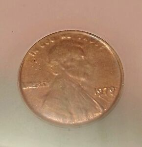 1979 Struck Thru CAPPED DIE OBVERSE CENT PENNY MINT ERROR ICG MS63 RB RARE