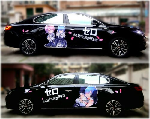 Cute Manga Anime Girl Full Color Car Graphics Decal Vinyl Sticker Fit any Car