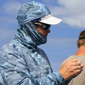 Lt Blue Pick Size-Free Ship Aftco Fish Ninja Performance Fishing Sun Hoodie