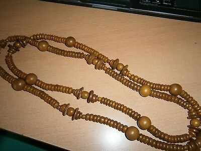 Modeschmuck Holzkette Neu/unbenutzt Exquisite Traditionelle Stickkunst Kugeln Scheibe Braun Gut Ausgebildete 1 Halskette